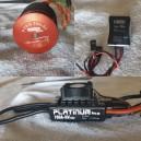 2ª Mano - Combo Motor Pyro 700-52L + Esc Hobyywing pro 100v3 hv + Bec Hobbywing 10/20 Amp