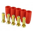 YUKI MODEL gold connector AS150 anti spark 5 plugs red housing