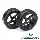 Buggy wheels 1/8 Street Black (2Ud.)