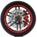 Steering wheel D1 rojo
