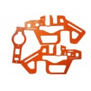 T-Rex 450 Pro 3S - Frame Pannel - G10 Orange