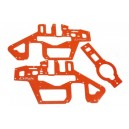 T-Rex 450 Pro 6S - Frame Pannel - G10 Orange