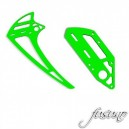 FUSUNO G10 Neon Green Vertical Fins and Tail Case 2mm Goblin 700