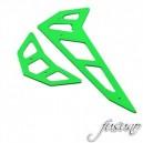 FUSUNO Neon Green Fiberglass Horizontal/Vertical Fin Trex 500E Pro