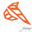 FUSUNO Neon Orange Fiberglass Horizontal/Vertical Fin Trex 500E Pro