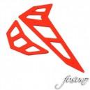 FUSUNO Neon Red Fiberglass Horizontal/Vertical Fin Trex 500E Pro