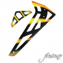 AreA51-RC Carbon Fiber Vertical/Horizontal Fin Orange Align 450 PRO V2
