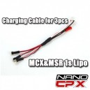 Charging Cable for 3pcs Nano CPX MCX MSR Lipo