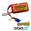 Overlander Extreme 1350mah 11.1v 40C 300X LiPo Battery