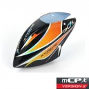 Xtreme Productions Pre-Painted Canopy (Type C) MCPX -BLACK (w/ Tail Fin Sticker)
