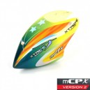 Xtreme Productions  Pre-Painted Canopy (Type C) MCPX -GREEN (w/ Tail Fin Sticker)
