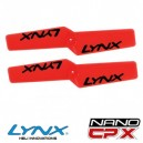 Lynx Heli NANO CPX Plastic Propeller 42mm Orange Neon