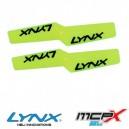 Lynx Heli MCPX BL Plastic Propeller 42mm Neon Yellow