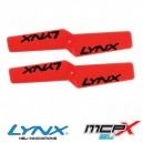 Lynx Heli MCPX BL Plastic Propeller 42mm Orange Neon