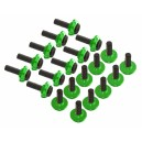 Lynx Stepped Frame Screw Set-Green- 20 T-REX 600-700-800