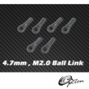 4.7mm , M2.0 Ball Link x6 for HPTB011,012,013,HPAT50004 ,AT55003