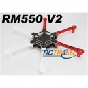 R550V2(White/Red) Glass Fiber Hexcopter Frame 550mm - Integrated PCB Version