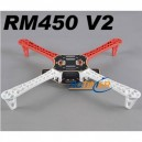 R450(White/Red) Glass Fiber Quadcopter Frame 450mm - Integrated PCB Version