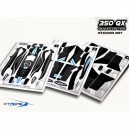 Xtreme Production Pre-Cut Body Sticker Set (Black) Blade 350QX