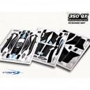 Xtreme Production Pre-Cut Body Sticker Set (Black) Blade 350QX