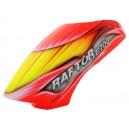Fusuno Red Cobra Airbrush Fiberglass canopy Raptor E700