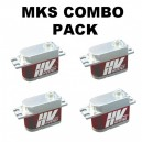 MKS HV9767 x 3 + HV9780 x 1 Servo Combo Pack