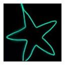 Cold Light String (1.5M) Highlight green