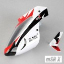 Complete White Canopy With Vertical Fin