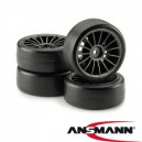 Tire & Rim Set 15 Spokes Design Slick black