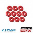 Lynx Heli Innovations NANO CPX Silicon O-Ring Red 10pcs