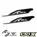 Rail Blade R-136 Rail Blades Flybarless Main Blade 130X