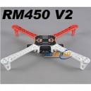 R450(White/Red) Glass Fiber Quadcopter Frame 450mm - Integrated PCB Version