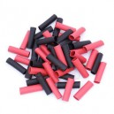 Heat Shrink 50 Pairs precut red and black